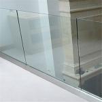 Modern aluminum U base channel glass balustrade systems for balcony