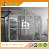 China 195X253X250CM White Color Imperial Series Double Door Glass Greenhouse on sale