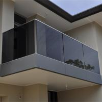 Floor Mounted Stainless Steel Railing , Glass Balcony Balustrade Solid Structure Manufactures