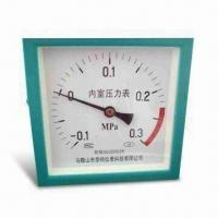China Vacuum Pressure Gauge with Snap On and Roll Ring Type, Made of Chrome and Gold Plated Steel Bezel on sale