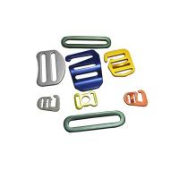 Optional Size Sheet Metal Stamping Parts , Stamping Metal Buckle Various Color Anodized Manufactures