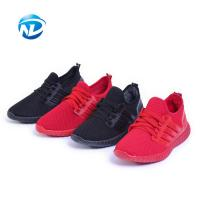 Light Weight Sports Shoes Lace-up Mesh Fabric Shoes For Ladies Manufactures
