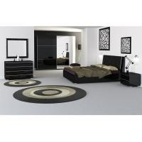 Customized Color High Gloss  Bedroom  Furniture Soft Feeling Queen Size Bed Manufactures