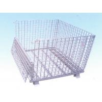 Custom Cage Wire Mesh Container With Forklift Porter, Powder Coating Surface Manufactures