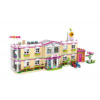 DIY School Villa Hospital Plastic Building Blocks For Kids Toys 100% Non - Toxic Manufactures