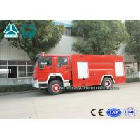 Emergency Rescue Fire Fighting Truck 4 X 2 Red Color 16 Ton Crane Capacity for sale