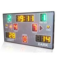 Red Green Yellow Color Portable Electronic Basketball Scoreboard For College Manufactures