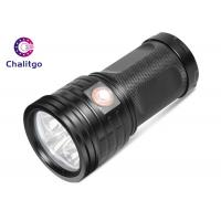 T6 Hunting High Lumen Flashlight , Rechargeable LED Flashlight Black Outdoor Manufactures