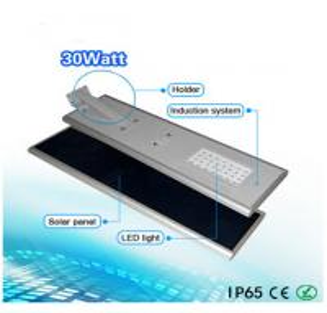 20W integrated solar LED street light solar energy security lamp spy hidden camera 5 meter black color Manufactures