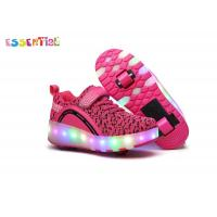 LED Wheel Roller Shoes , Light Up Roller Shoes With Mesh Lining Material Manufactures