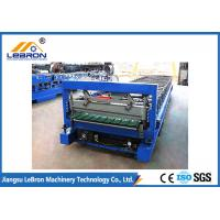 PLC Control Glazed Tile Roll Forming Machine , Color Steel Tile Forming Machine Manufactures