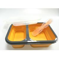 Collapsible Silicone Lunch Containers , Lunch Box Containers With Compartments Manufactures