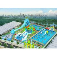 Buy cheap Safety Outdoor Playground Inflatable Water Parks For Adult And Kids / Aqua Park Equipment from wholesalers