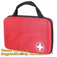 Red pu leather waterproof mini eva first aid kit case,first aid box plastic case carrying case,Medical Multi-functional Manufactures