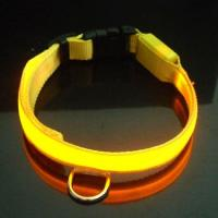 Quality Orange Cute Silkprint Dog LED Flashing Pet Lead for sale