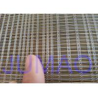 2000mm Width Glass Laminated Brass Woven Metal Wire Mesh Fabric For Art Design Manufactures