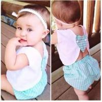 Angou INS popular baby summer sets tops+pants 2pcs sets baby cute suits children toddler Manufactures