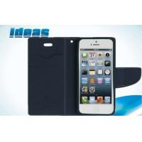 Contrast Color Leather Cell Phone Holsters dustproof For iphone 6 Manufactures