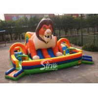 9x9m outdoor big jungle lion kids inflatable fun park with slide for fun parties from Sino Inflatables Manufactures