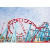Customized Roller Coaster Thrill Rides , Steel Frame Kiddie Loop Roller Coaster Manufactures