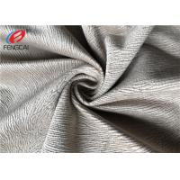 Burnout Velboa Sofa Velvet Upholstery Fabric For Home Textiel , 190GSM Weight Manufactures