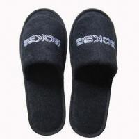 Open Toe Towel Hotel Slippers, Customized Colors and Logos are Accepted Manufactures