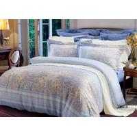 Simple Durable Soft Cotton Fabric Sateen Bedding Sets ISO Approval Manufactures