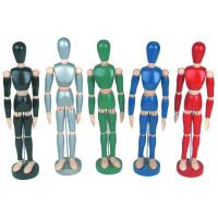Life - Sized Wooden Drawing Figure Model , Colourful Flexible Poseable Art Mannequin Manufactures