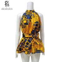 Kitenge Fabric African Attire Print Tops Anti - Static Wear Confortable Manufactures