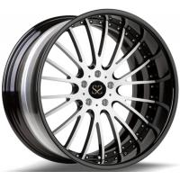 Buy cheap Gloss Black 20 Inch 2- Piece Forged Alloy Rims For Porsche Rims With 5x130 from wholesalers