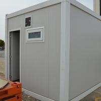 China Modern Steel Two Doors Flat Pack Container House For Public Shower Room on sale
