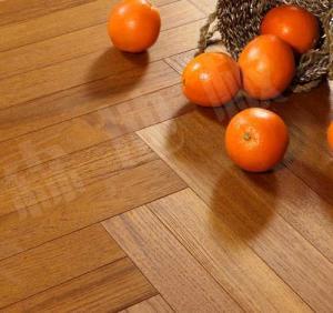 China slight brushed burma teak herringbone engineered wood flooring; fishbone teak wood floor on sale
