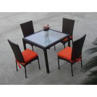 Rattan Garden Dining Sets , Wicker Outdoor Furniture Dining Sets Manufactures