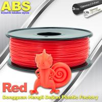 Multi Color 1.75mm / 3mm ABS 3D Printer Filament Red With Good Elasticity Manufactures