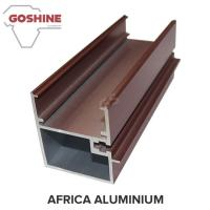China Customized Hollow Wood Finish Aluminum Window Frame Extrusions on sale