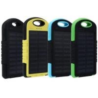Solar Power Bank 5000mah Extreme Mobile Phone Battery Charger Pack Dual USB LED with Climbing Hook Manufactures