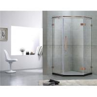 Red Bronze Frameless Swing Shower Enclosures With Stainless Steel Hinge and Support Bar Manufactures