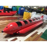 Red Colour Inflatable Fly Fishing Boats With 0.9mm PVC Inflatable Fishing Pontoon Boats Manufactures