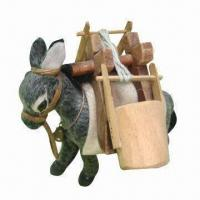 China Handmade furry animal for donkey collectors on sale