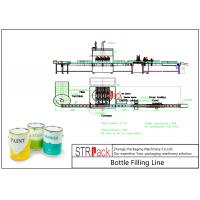 Industrial Automatic Liquid Filling Line With Piston Filling Machine And Automatic Bottle Labeler Manufactures