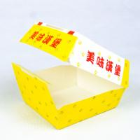 China Disposable Paper Box Hamburger Packaging Box With Customized Logo And Printing Content on sale