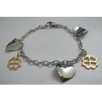 Popular Stainless Steel Bracelets for Women with Heart and Flower Charms Manufactures
