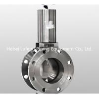 China SS304 and SS316L stainless steel sanitary wafer type pneumatic flange butterfly valve on sale