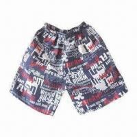Buy cheap Men's Beach Shorts, Made of Polyester, with Anti-UV, OEM and ODM Orders are from wholesalers