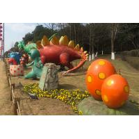 China Silicon Ruber Outdoor Playground Fiberglass Dinosaurs Colors Diversified on sale