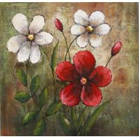 Buy cheap hand painted canvas oil paintings flowers modern art high quality paintings home from wholesalers