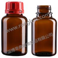 250ml amber chemical reagent glass bottle,wide mouth with tamper evidient cap Manufactures