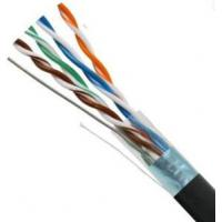 China 24AWG Bare Copper Network Cable , Utp Cat6 Outdoor Network Cable Grey / Blue on sale