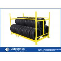 China Collapsible Warehouse Storage Racks For Tires , Two Level Stacking Tire Storage Rack on sale