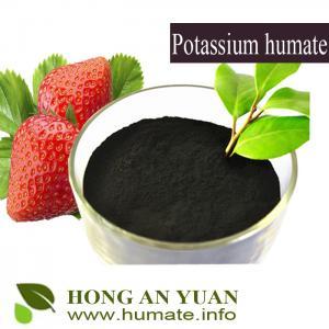 Humic Acid Type 60% HA  Potassium Humate Shiny Flake / Powder Manufactures